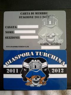 DIASPORA TURCHINA met en vente ses nouvelles cartes de membres pour la  saison 2011 2012 (carte en pvc format carte bancaire) à 10 Euros l unité.  contacter ... d4671574318