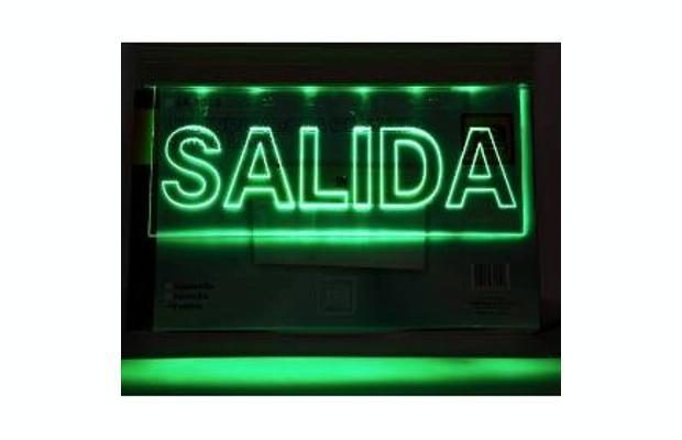 Luz de emergencia para señalizacion de carteles