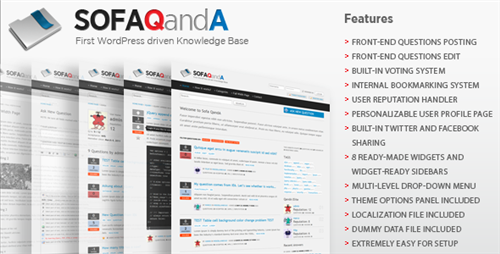 Themeforest - Sofa QandA - Knowledge Base Theme v1.0 WP - RETAIL